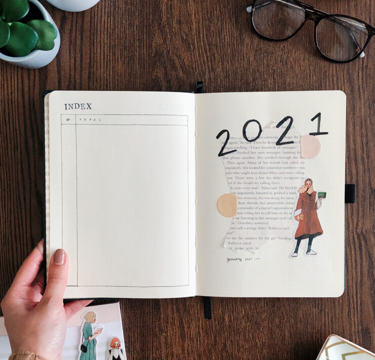2021 bullet journal setup